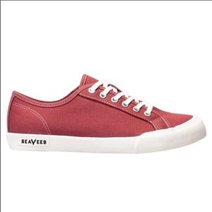 SEAVEES-Monetary Terracotta Red Canvas Sneakers-8